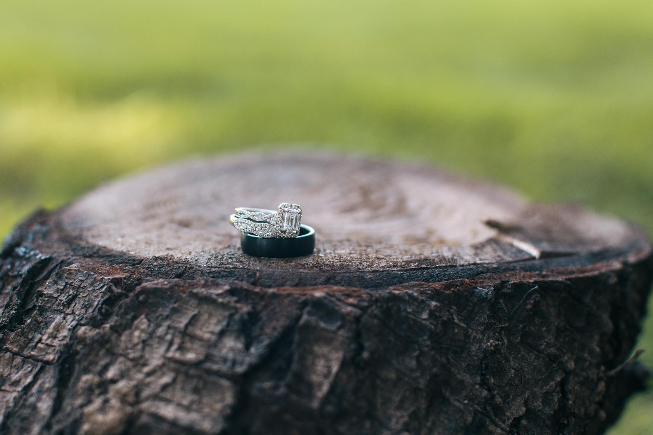 Sherwood Backyard Wedding Portland Oregon Rings